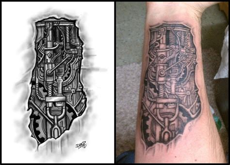 bionic tattoo designs sci fi tattoos search tatto designs