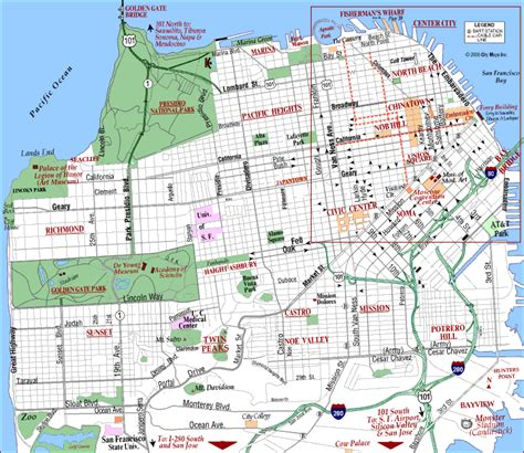 jcc map san francisco road map of san francisco san francisco california
