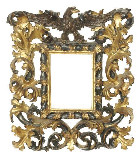 cornici fiorentine rara cornice riccamente intagliata laccata e dorata