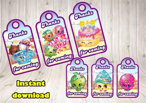 printable shopkins birthday decorations shopkins favor tags shopkins printable by decorationsleon