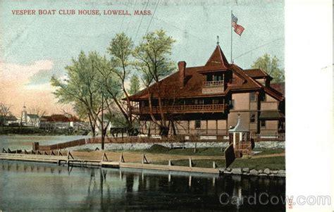 vesper boat house vesper boat club house lowell ma postcard