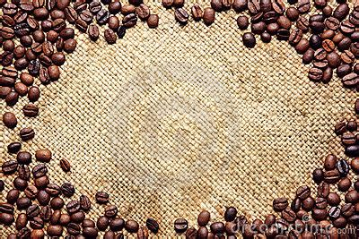 coffee sack wallpaper frame made of coffee beans on sack textile royalty free