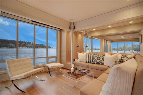 houseboat colour tour a small houseboat in seattle interior design styles