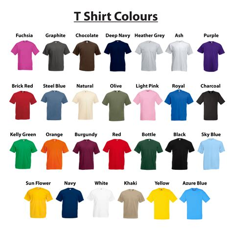 fruit t shirt fruit of the loom 100 cotton plain blank s s
