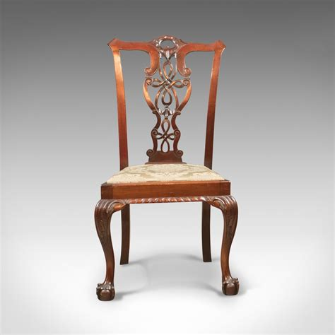 set   antique dining chairs victorian chippend