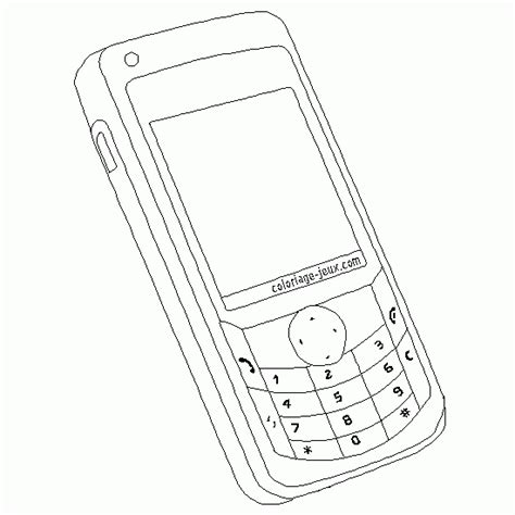 mobile phone design free kids coloring to print