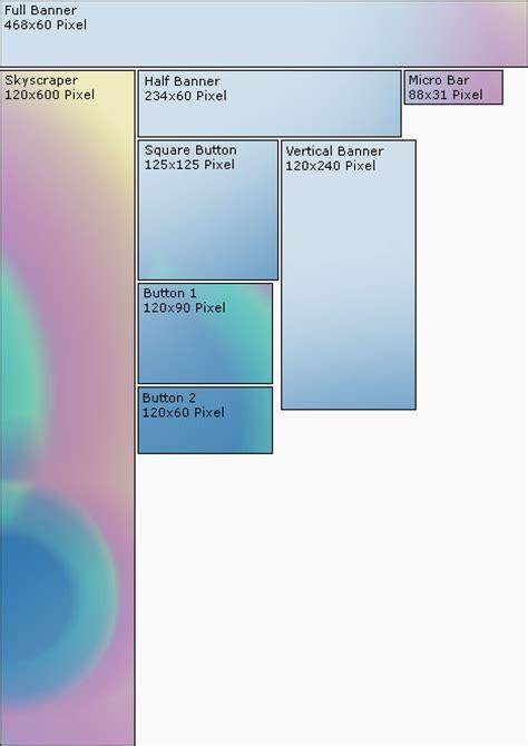 format x banner die verbreitetsten formate f 252 r werbebanner im internet