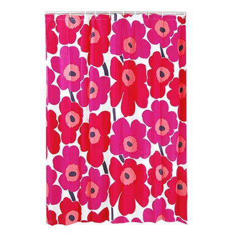 marimekko shower curtain marimekko unikko red cotton shower curtain marimekko
