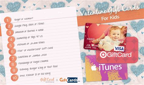 Valentine Gifts Cards - top 10 valentine gift cards for kids gift card girlfriend
