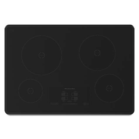kitchenaid induction range reviews shop kitchenaid 4 element smooth surface induction electric cooktop black common 30 in