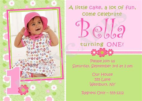 baby birthday invitation card template