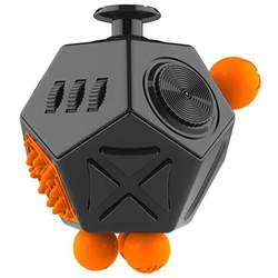 mega fidget cube anti stress amp anxiety reliever black