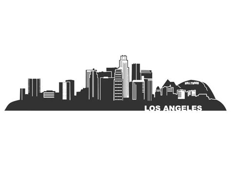 la skyline tattoo 1101 1 wandtattoo los angeles skyline gif 800 215 600 pixels