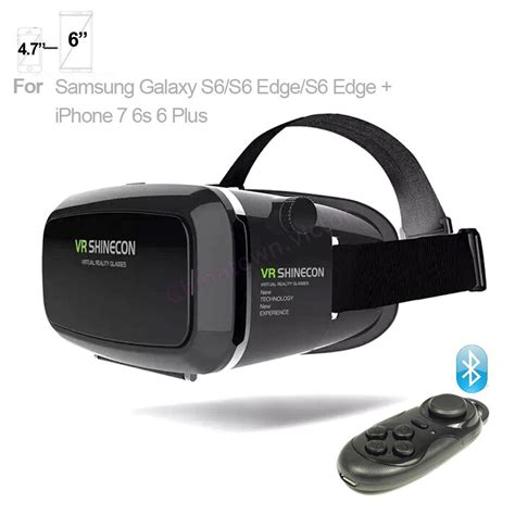 iphone vr vr shinecon reality 3d glasses for iphone 7 samsung 4 7 quot 6 quot