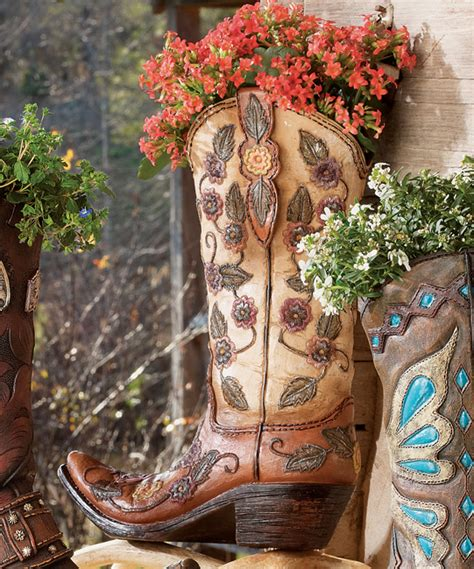 Cowboy Boot Flower Vase by Flower Cowboy Boot Vase