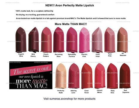 l shades baton avon perfectly matte lipstick various colours