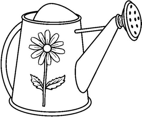 coloring page watering can watering can garden watering can coloring page school