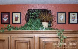 Above Kitchen Cabinet Decor by Delightful Order Home Makeover Part Iii Kitchen Dining Area