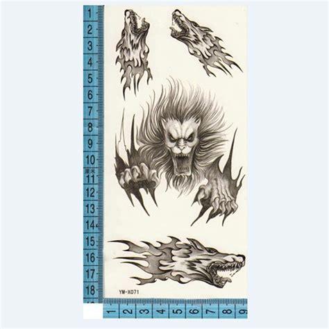 temporary tattoo paper nz k 246 p wolf totem design djur vattent 228 t tillf 228 llig tatuering