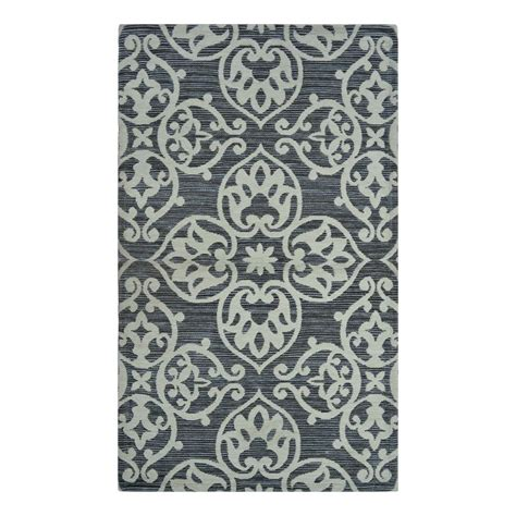 grey throw rug shop allen roth grey medallion indoor throw rug common 2 x 4 actual 2 25 ft w x 3 75 ft l