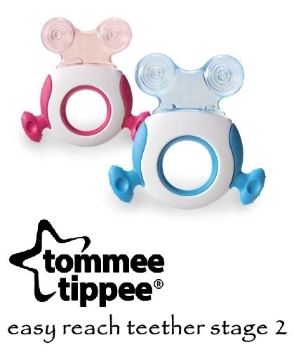 Tommee Tippee Teether Stage 1 Gigitan Bayi Mainan Gigitan Anak Edukasi tommee tippee easy reach teether stage 2 asibayi