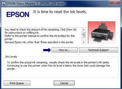 cara reset epson l210 ink level cara reset ink level epson l210 l110 quot it is time to restart quot