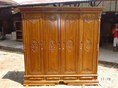 Almari Jati 4 Pintu almari pakaian jati 4 pintu rumah mebel jepara