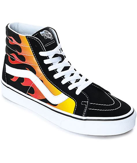 The Enligne Flames Shoes vans flamme