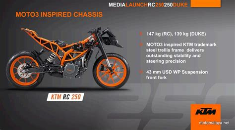 Jual Motor Ktm Rc 200 250 Kaskus 5 ktm rc250 features chassis 005 motomalaya