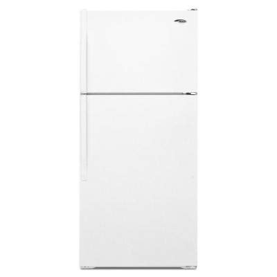 amana 15 9 cu ft top freezer refrigerator in white