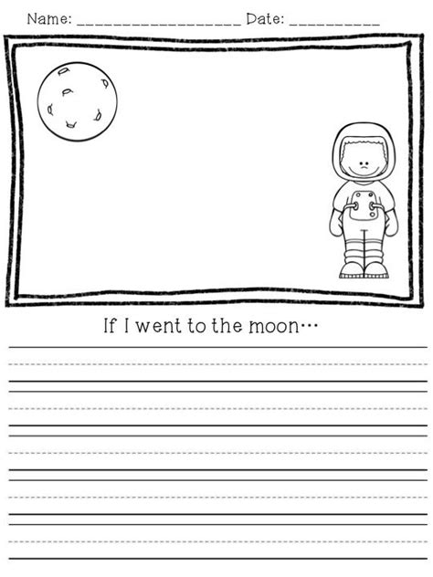 grade writing paper with picture space free space writing prompts for primary grades for