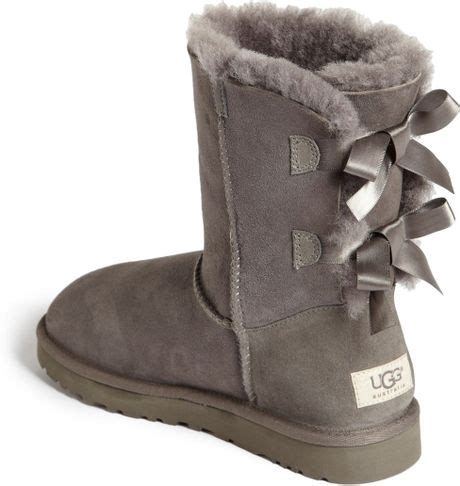 gray ugg boots ugg bailey bow boot in gray grey lyst