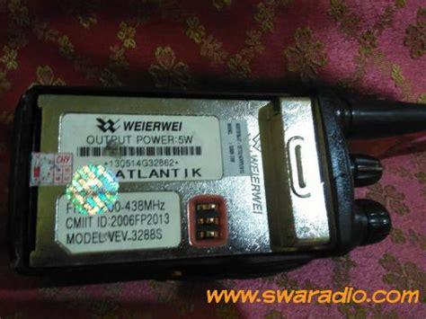 Jual Charger Weierwei 3288 Asli Baru Radio Komunikasi Elektronik T ht weierwei uhf vev 3288s swaradio