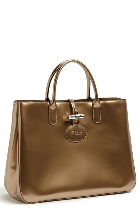 Tote Platinum longch roseau box large tote in brown platinum lyst