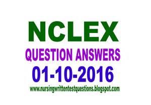 nursing written test sle questions nclex question and