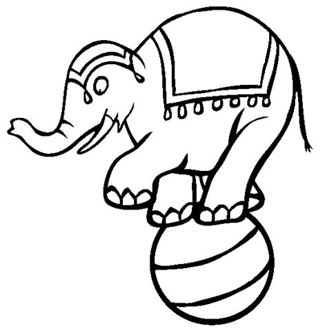 Circus Elephant Coloring Pages Ideas To Kids Circus Animals Coloring Pages