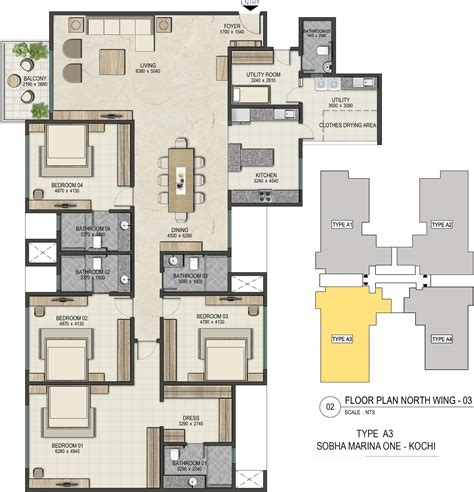 marine one floor plan marine one floor plan 3530 sq ft 4 bhk 4t apartment for