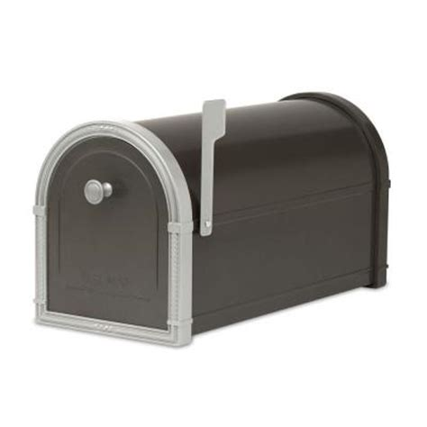 architectural mailboxes bellevue black post mount mailbox
