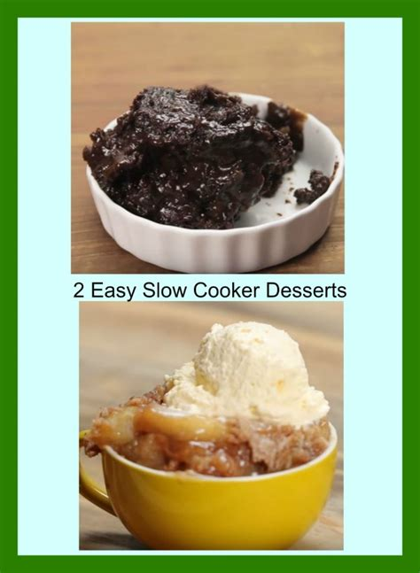 2 easy slow cooker desserts at home with my honey