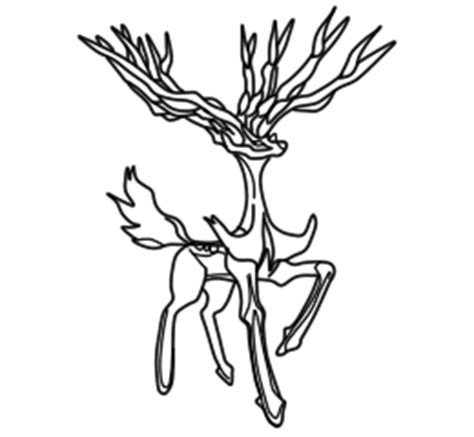 Xerneas Pokemon X Y Lineart By Mariicreations93 On Coloring Pages Xerneas