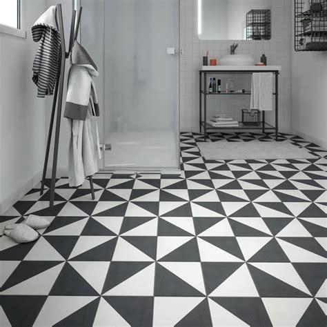 Carrelage Noir Et Blanc by Carrelage Sol Et Mur Noir Blanc Effet Ciment D 233 Ment L 20 X