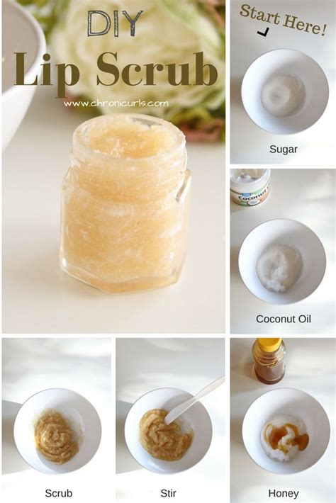 Ms Glow Sugar Lipscrub diy sugar lip scrub made with sugar coconut and honey www chronicurls diy home