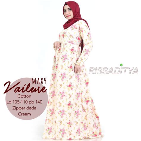 Zaza Maxy By Uwais 4 Warna jual harga supplier vailure maxy by rissaditya katun flower zero2fifty