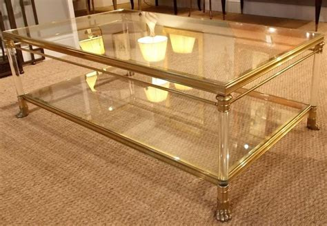 two tier coffee table furniture coffee table a creation two tier glass