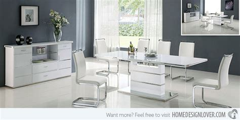 modern white dining room set refreshingly neat 15 white dining sets home design lover
