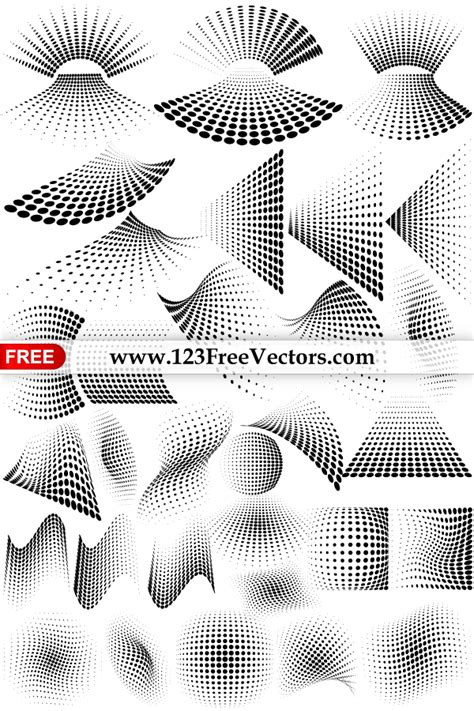 vector graphics halftone dots design elements by