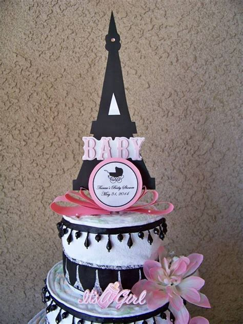 Eiffel Tower Baby Shower Cakes by 44 Best Images About Cakes On Chic Pink Black And Themed Cupcakes