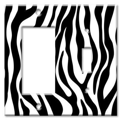 Switch Starter Zebra plates zebra print rocker switch combo wall plate rs 50 the home depot