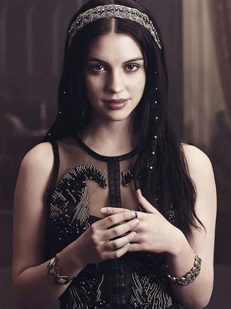 reign tv show hair beads adelaide kane actress pinterest