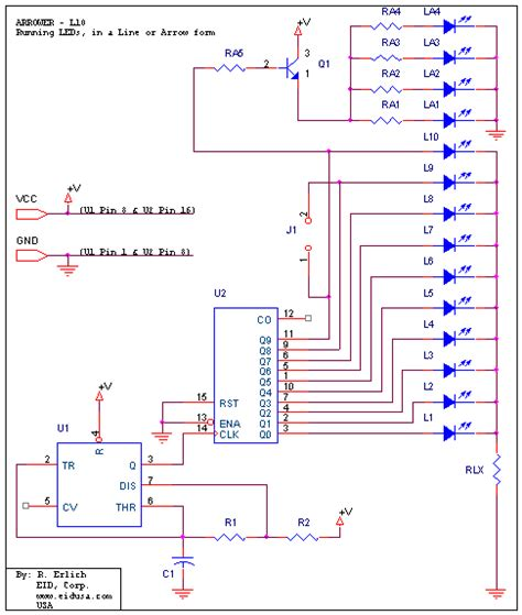bi colour led running lights circuit diagram world circuit diagram of led running light circuit and